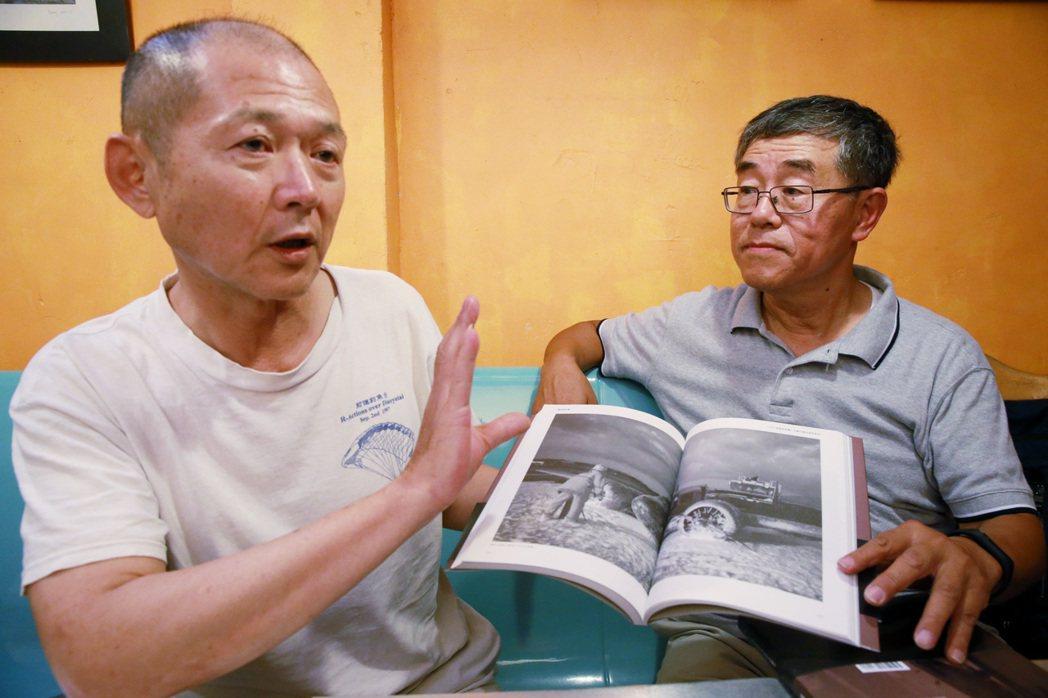 1997年試圖空降釣魚台未果的主角,王仲年、魯國明。 記者黃義書/攝影