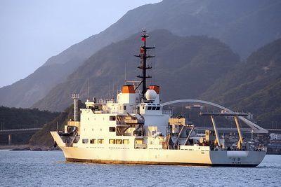 圖為執行海軍海測的達觀軍艦。圖/軍聞社