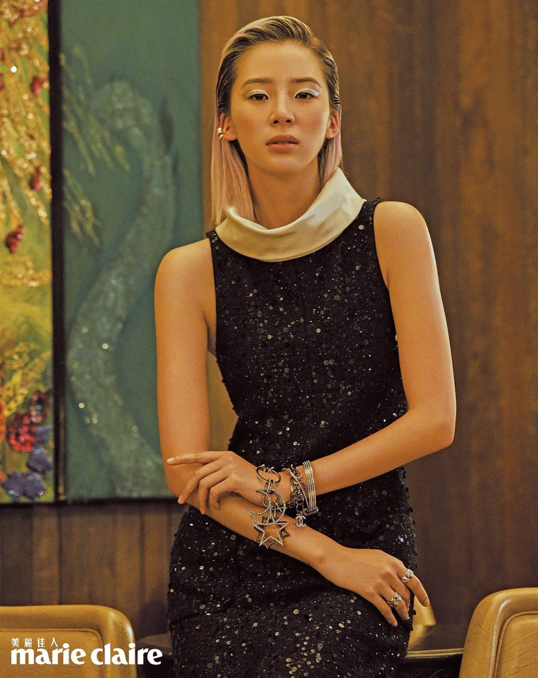 韓國超模部落客Irene Kim接受時尚雜誌訪問。圖/Marie Claire美...