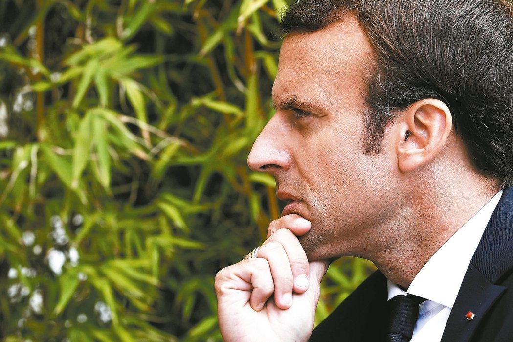 法國中間派總統馬克宏。 法新社
