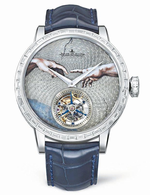 積家超卓傳統圓柱游絲陀飛輪大師系列腕表,全球限量8只,約775萬元。 圖/Jae...