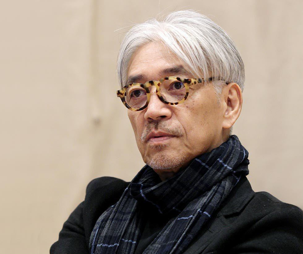 日本作曲家坂本龍一 網路照片