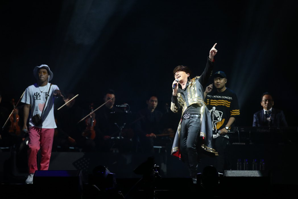 翁立友演唱會 邀請玖壹壹做佳賓同台。記者陳立凱/攝影
