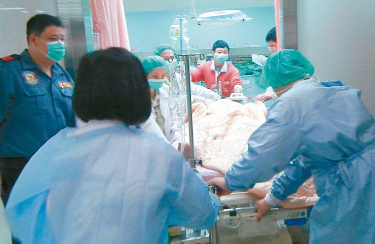 加護病房急救示意圖。 圖/本報資料照片