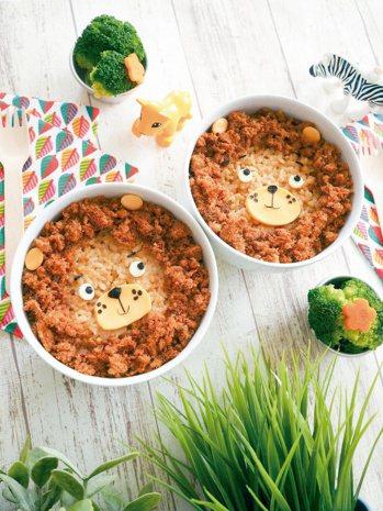 我是獅子王 圖文/摘自橘子文化出版 《超萌造型兒童餐:50道孩子最喜歡的可愛料理...