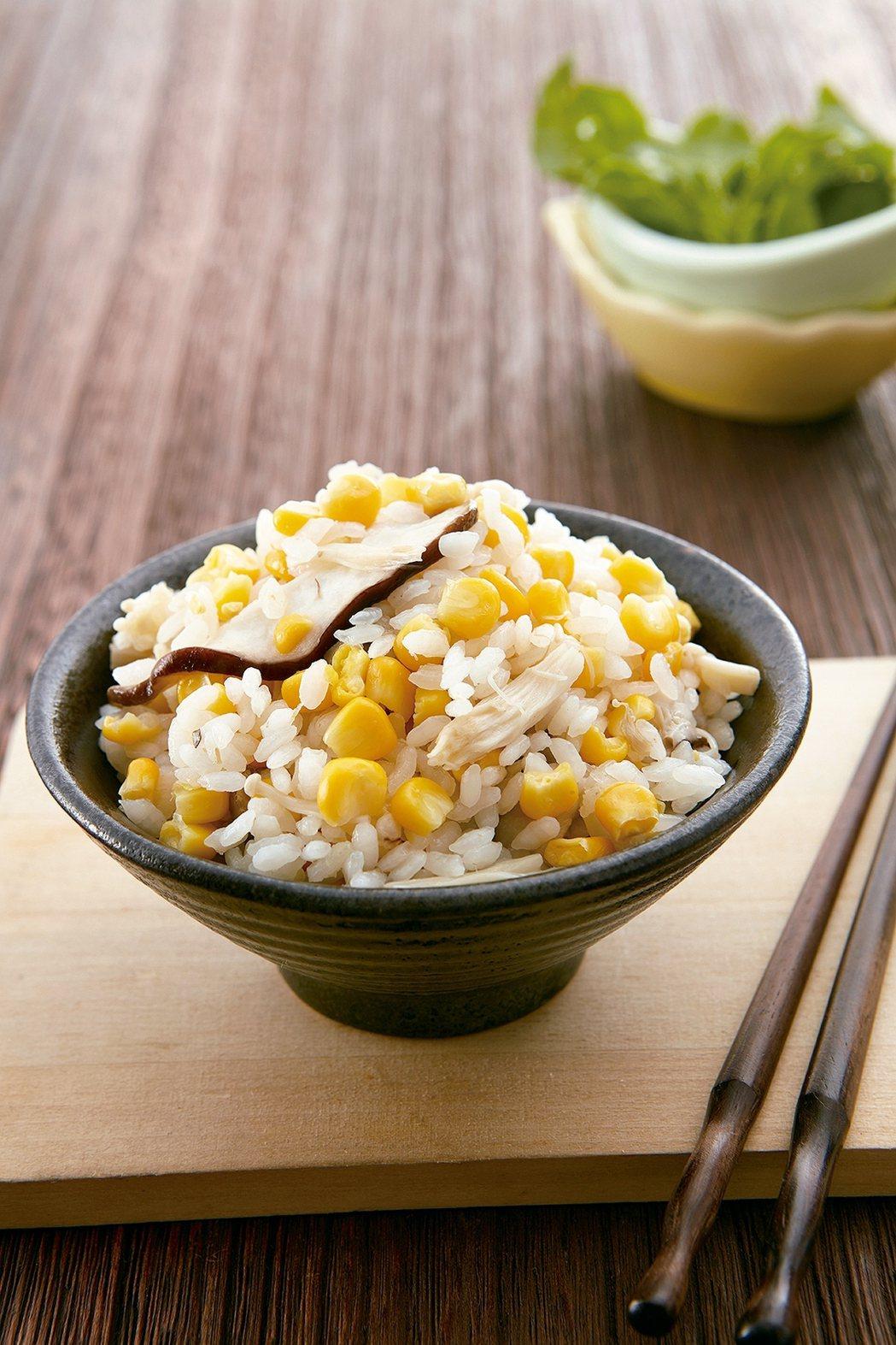 玉米菇菇炊飯 照片:天和鮮物/提供