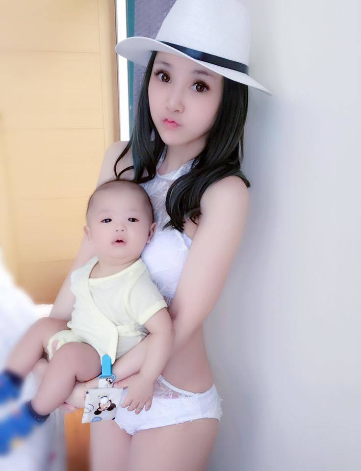 陳子玄抱著兒子,當了媽還是美翻。圖/摘自陳子玄臉書