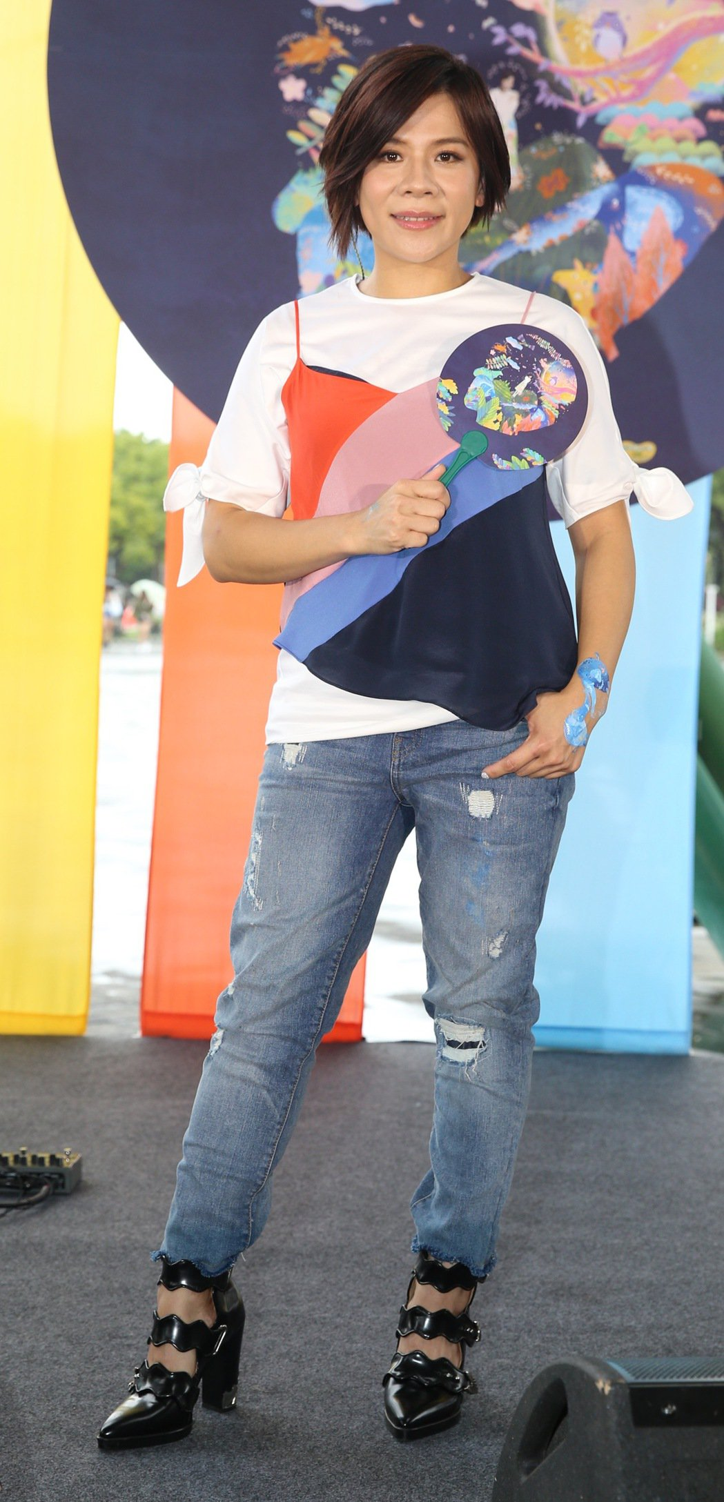 江美琪3日在花博舉辦「彩色動物園」直播音樂會。記者林伯東/攝影
