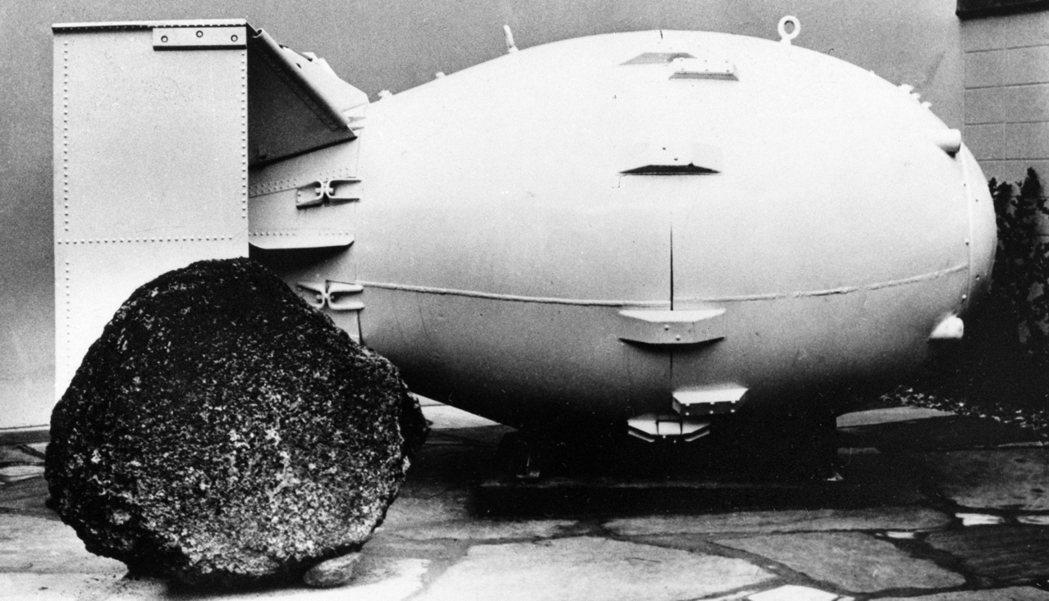 美國1945年在日本長崎投下的胖子原子彈。 美聯社
