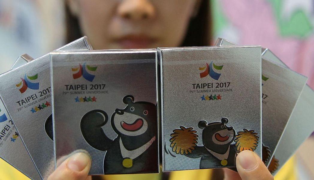 世大運熊讚造型保險套。 世大運組委會/提供