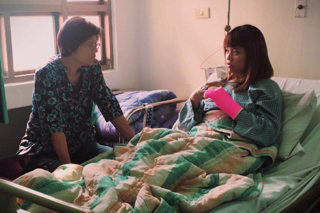 孟樺賽後住院治療。 翻攝自楊孟樺臉書
