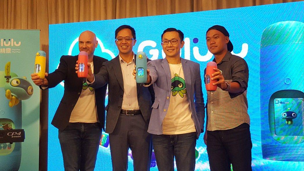 「Gululu 水精靈」CEO江志強(右二)表示,,「Gululu水精靈」結合電...