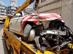 國道施工增設標誌車、交通筒 賀陳旦:寧可多付經費 也要保護人命