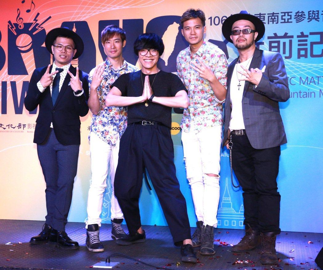 藝人盧廣仲與張三李四,將讓其他國家看到台灣多元的面貌。記者黃義書/攝影