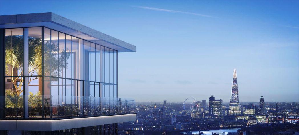 倫敦新建案Wardian蕨醒能一覽金絲雀碼頭景觀,一推出立即在全球造成熱賣  瑞...