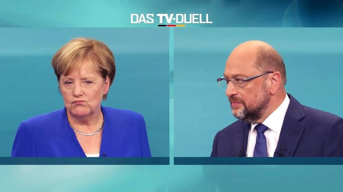 德國大選辯論——Das TV Duell——於德國時間周日(9月3日)晚間8點,...