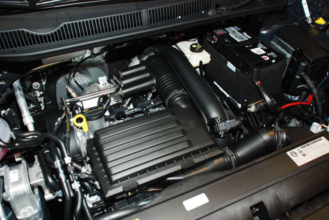 1.4升TSI四缸渦輪增壓汽油引擎。記者林昱丞/攝影