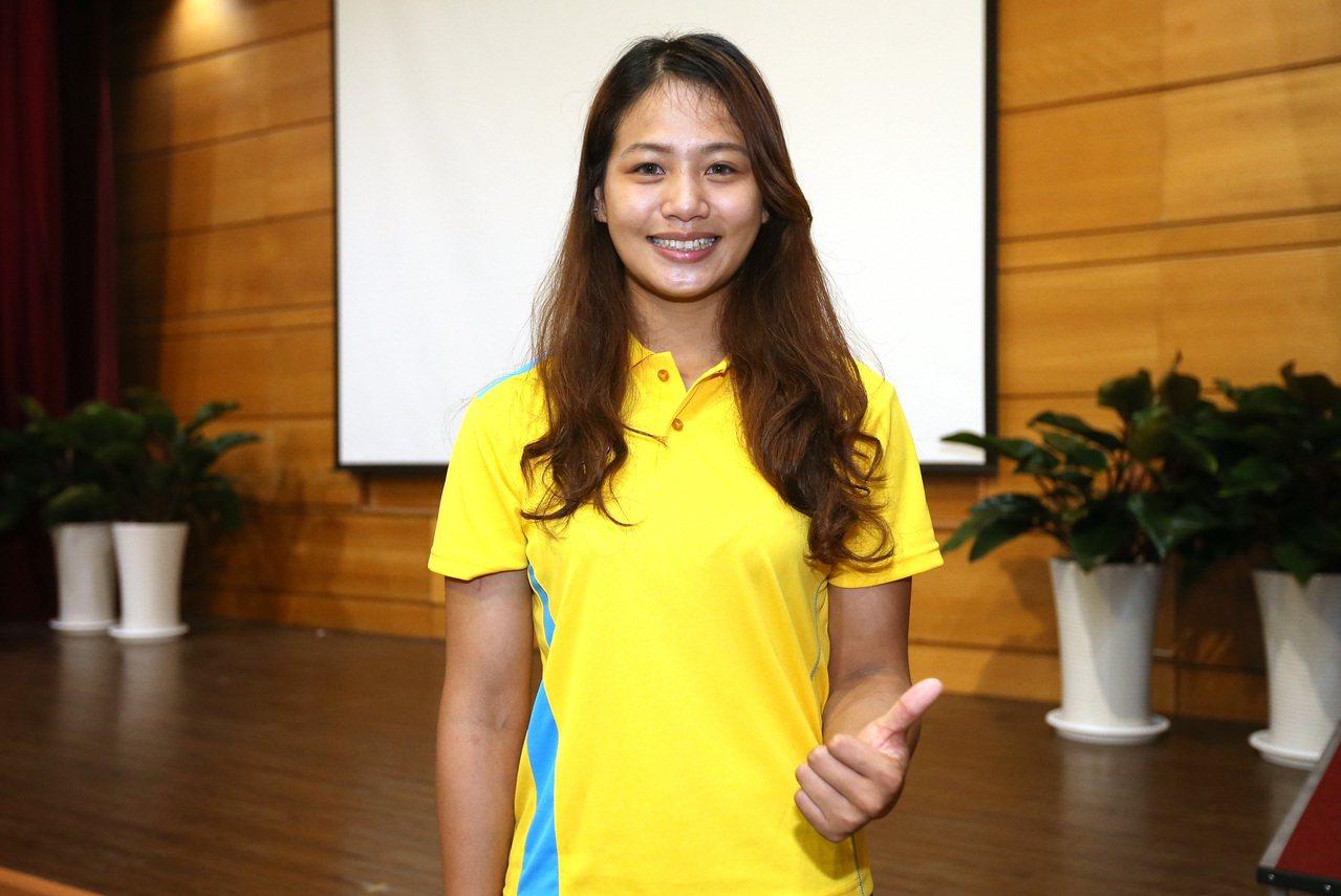 台灣首名闖進奧運的角力甜心女將陳玟陵。 中央社