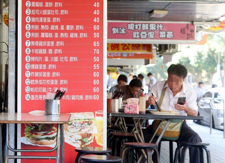 早餐店環境衛生很重要。 記者邱德祥/攝影 報系資料照