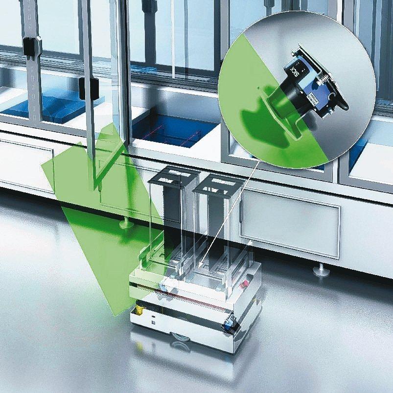 TiM系列感測器也可運用在無人移動的台車。 台灣西克/提供