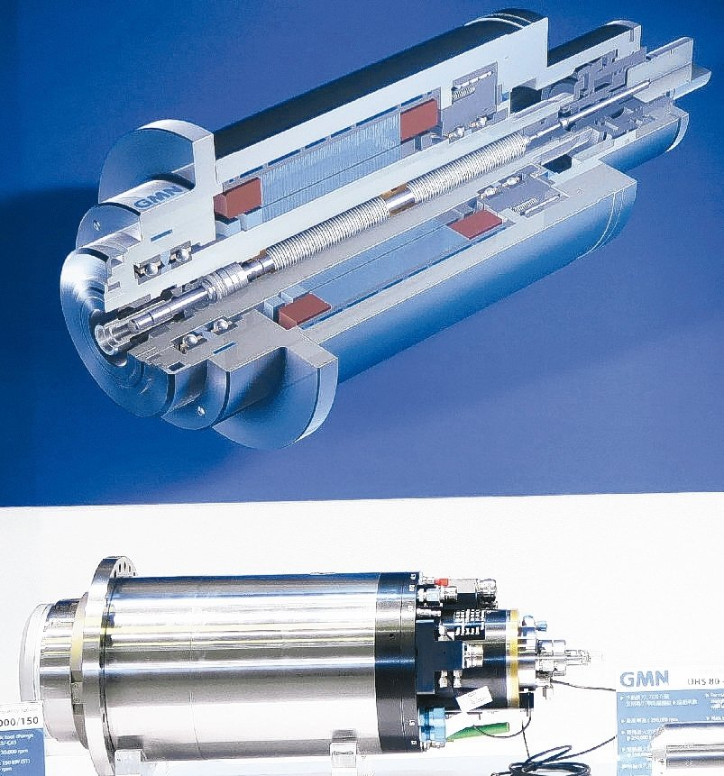 輝遠公司推出高精密高速主軸、軸承。 陳華焜/攝影