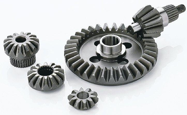 豪倫齒輪專精各式蝸旋傘齒輪。 豪倫齒輪/提供