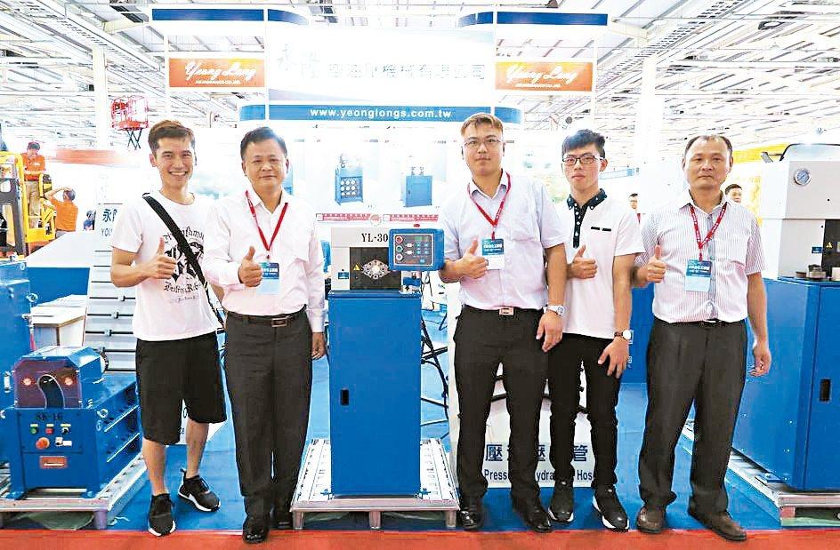 永隆空油壓機械推出全新機種。 永隆/提供