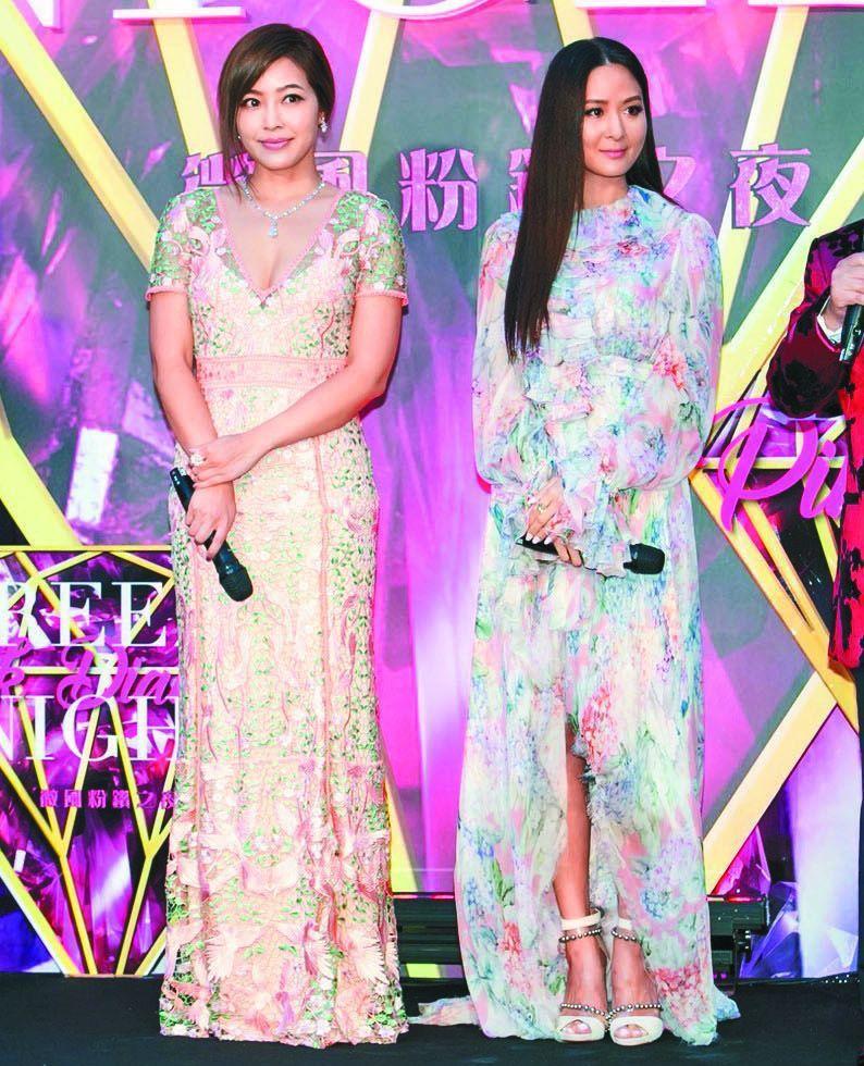 「微風之夜」女主人孫芸芸(右)和廖曉喬(左),是吸睛焦點,更是時尚指標。 記者仝...