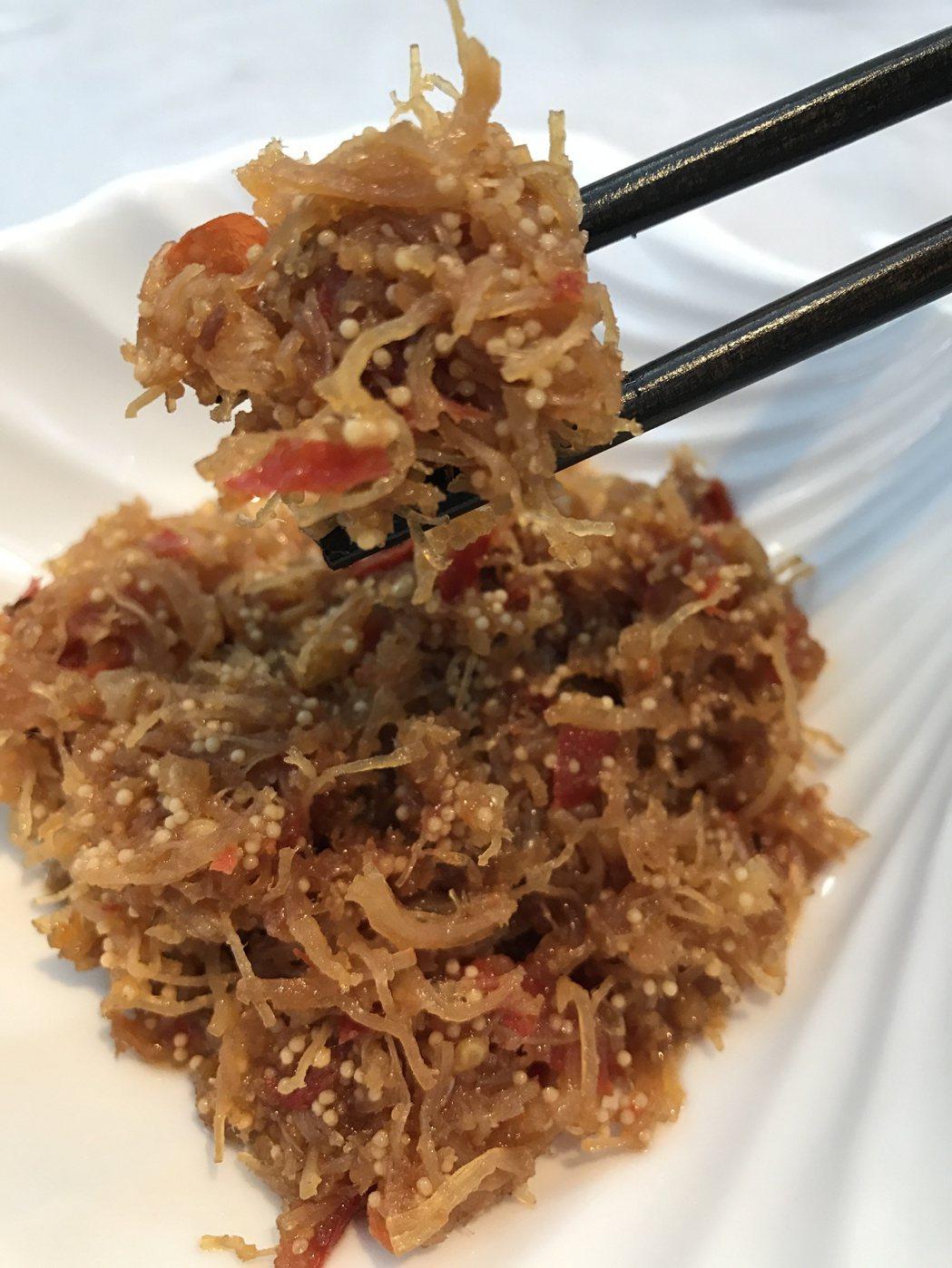 飛魚卵干貝醬。記者吳淑君/攝影