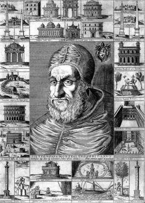 藉由噴泉的工程,西斯圖思五世向世人宣布他才是羅馬城的實質統治者。 圖/維基共享