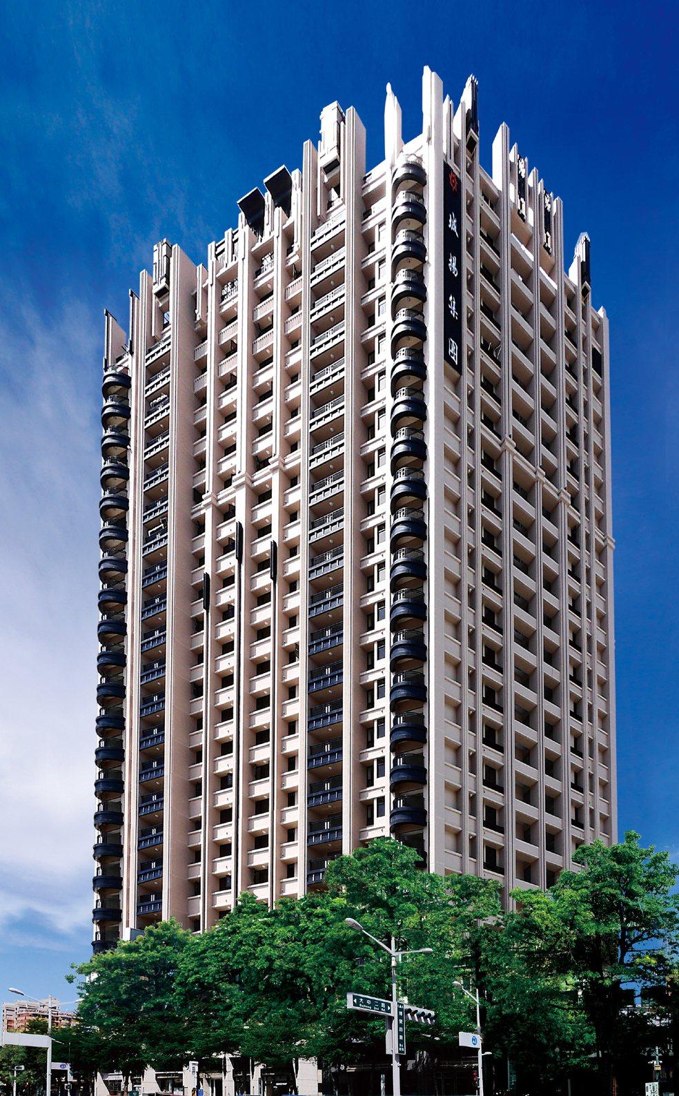 【博愛綻】Art Deco傲視地標外觀。 圖片提供/城揚建設