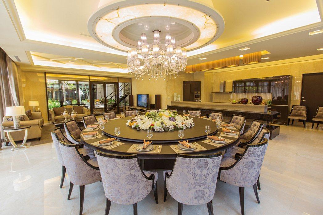 【博愛綻】宴客廳實景。 圖片提供/城揚建設