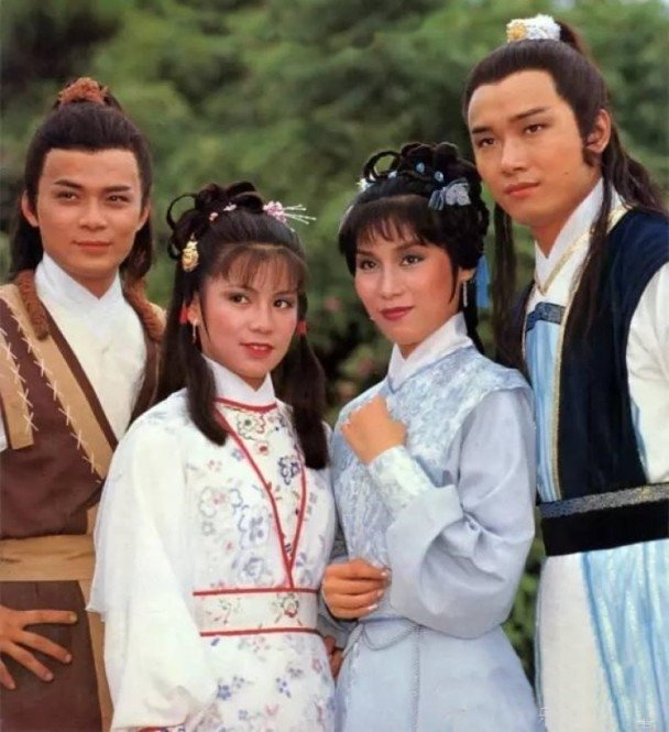 黃日華(左起)、翁美玲、楊盼盼、苗僑偉主演的「射鵰英雄傳」,公認是電視版的經典。...