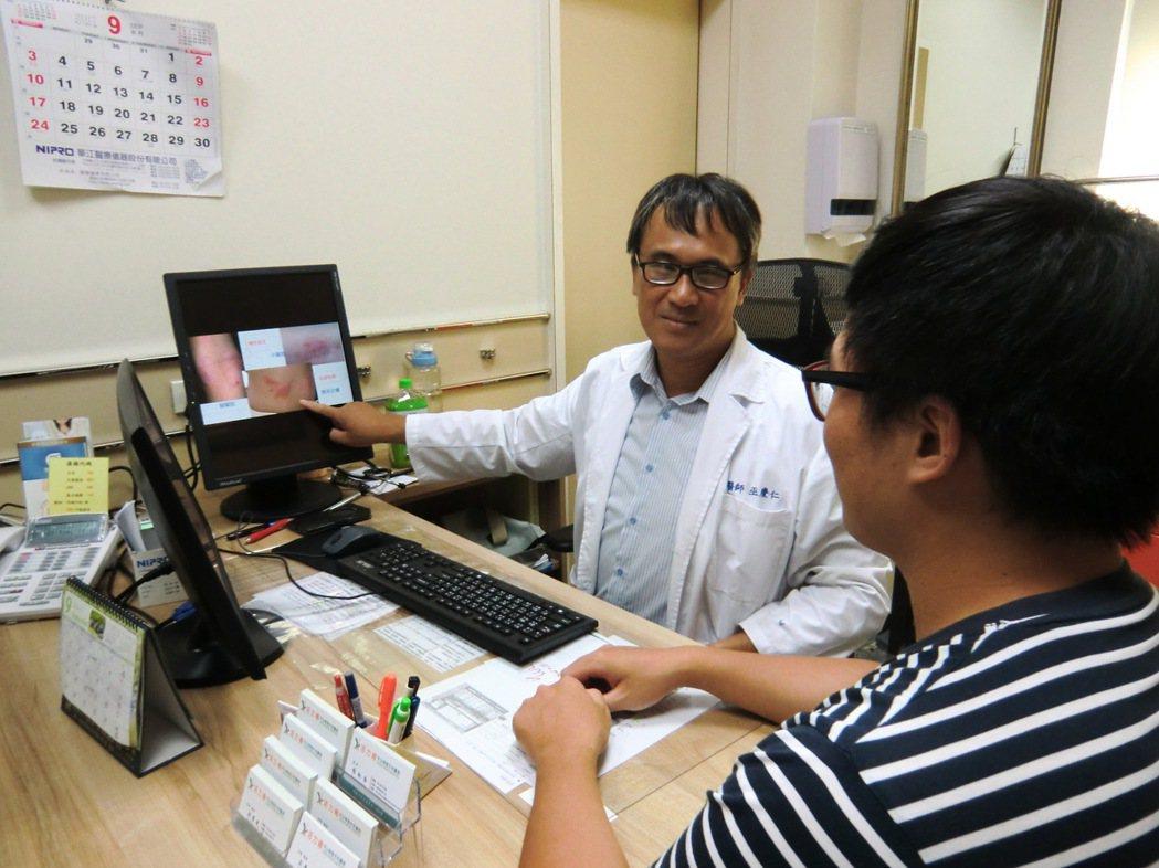 「活力得中山脊椎外科醫院」內科醫師巫慶仁提醒,異位性皮膚炎常被誤以為是黴菌感染,...