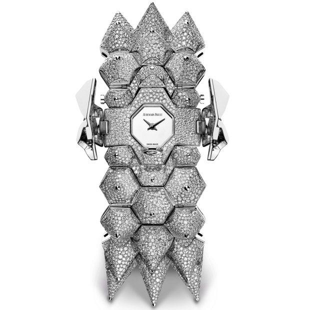 Diamond Outrage高級珠寶腕表全鑽款,18K白金鑲嵌鑽石共約65.9...