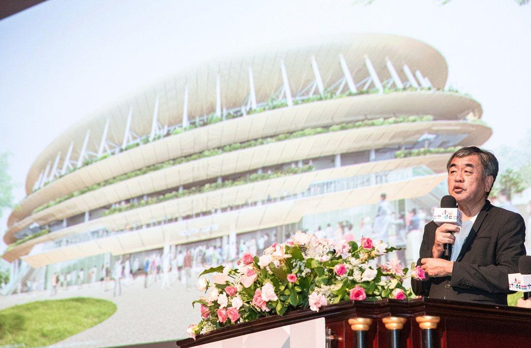 隈研吾分享2020年東京奧運主場館設計理念。記者鄭清元/攝影