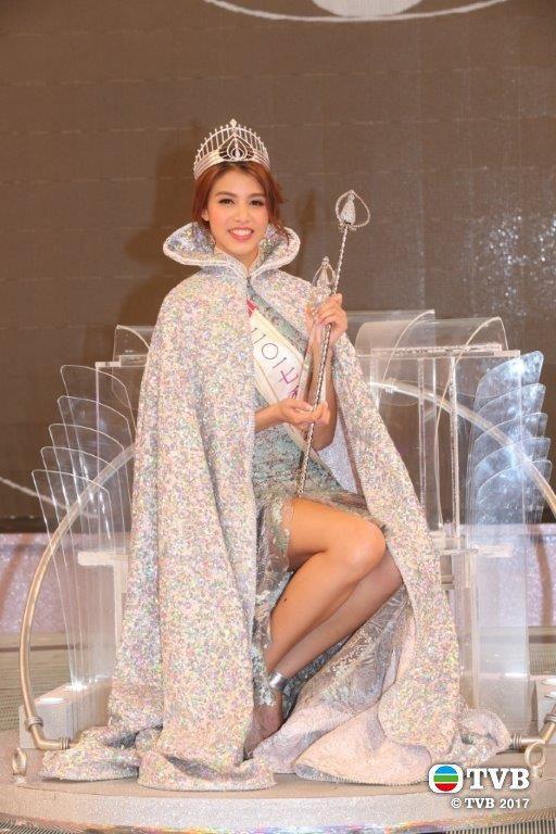 2017年香港小姐冠軍雷莊兒。圖/取自TVB官網