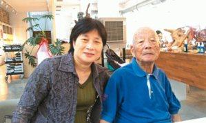 林黛嫚與父親合影於桃源坊。 林黛嫚.圖片提供