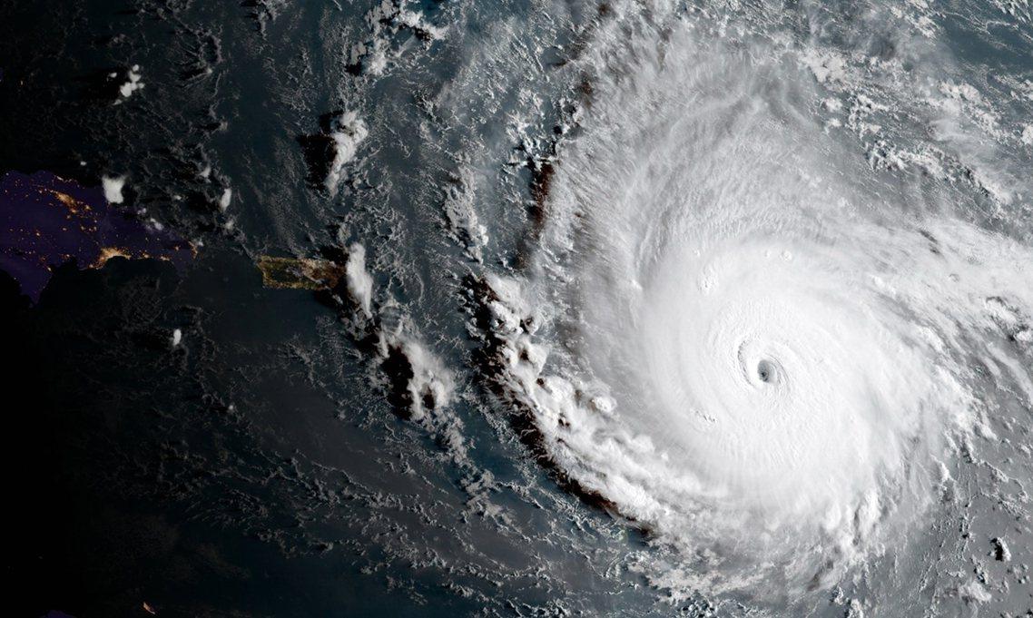 五級怪獸,颶風「厄瑪」。 圖/歐新社