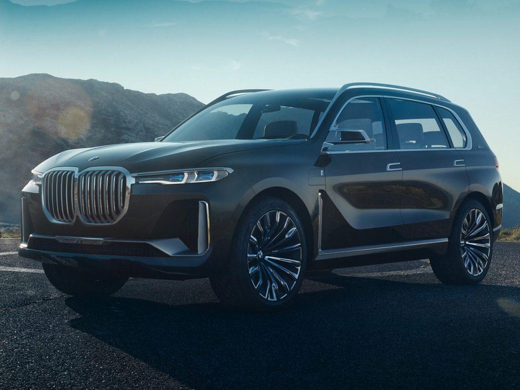 BMW X7 Concept上變很大的水箱護罩。 摘自Bimmerpost