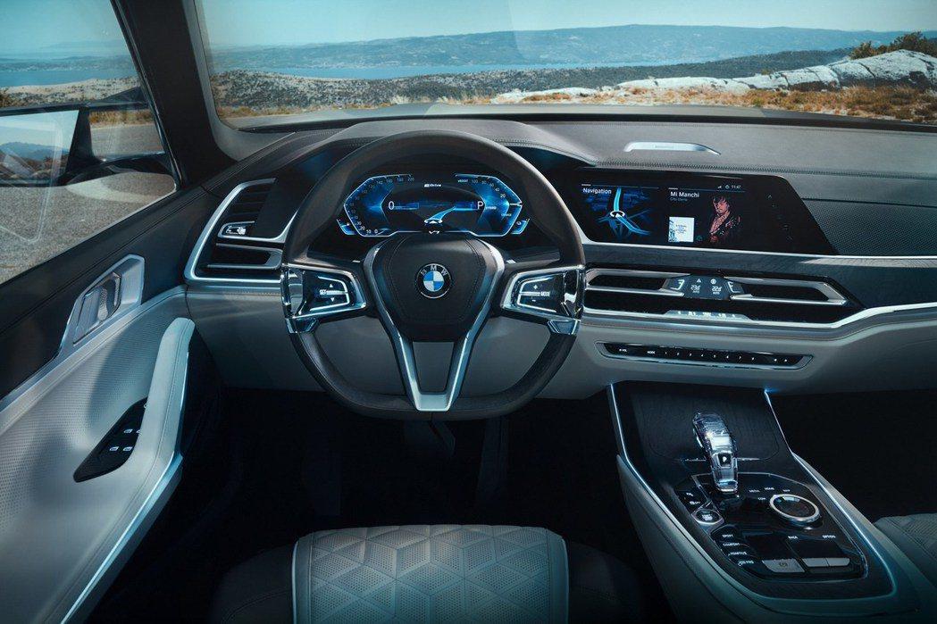 BMW X7 Concept內裝。 摘自Bimmerpost