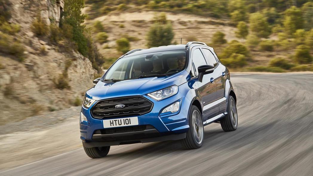 歐規小改款的Ford EcoSport。 摘自Ford