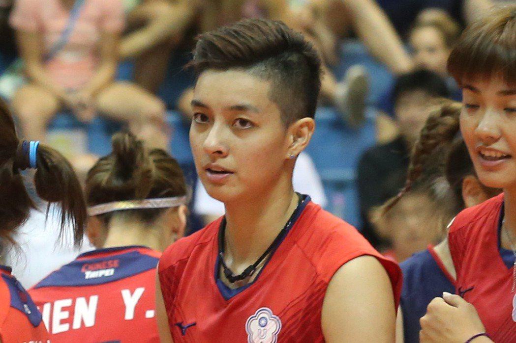 世大運中華女排隊長阿非(陳菀婷)因帥氣外表擁有眾多粉絲。圖/統一獅隊提供 中華