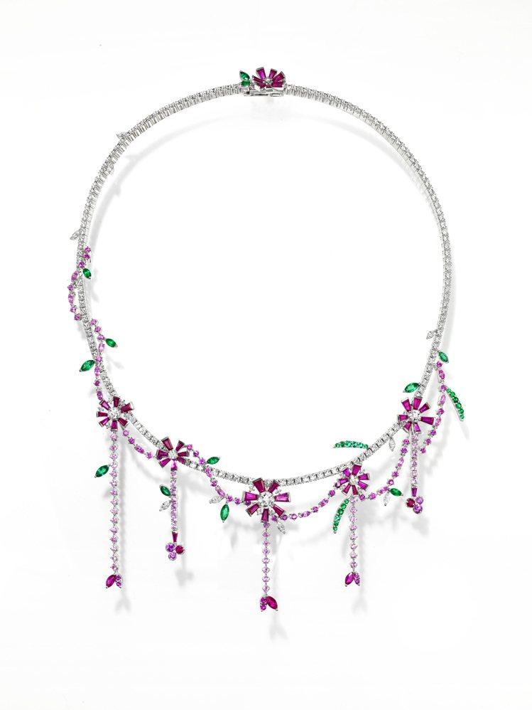 TASAKI opulence紅寶石彩寶項鍊,705萬元。圖/TASAKI提供