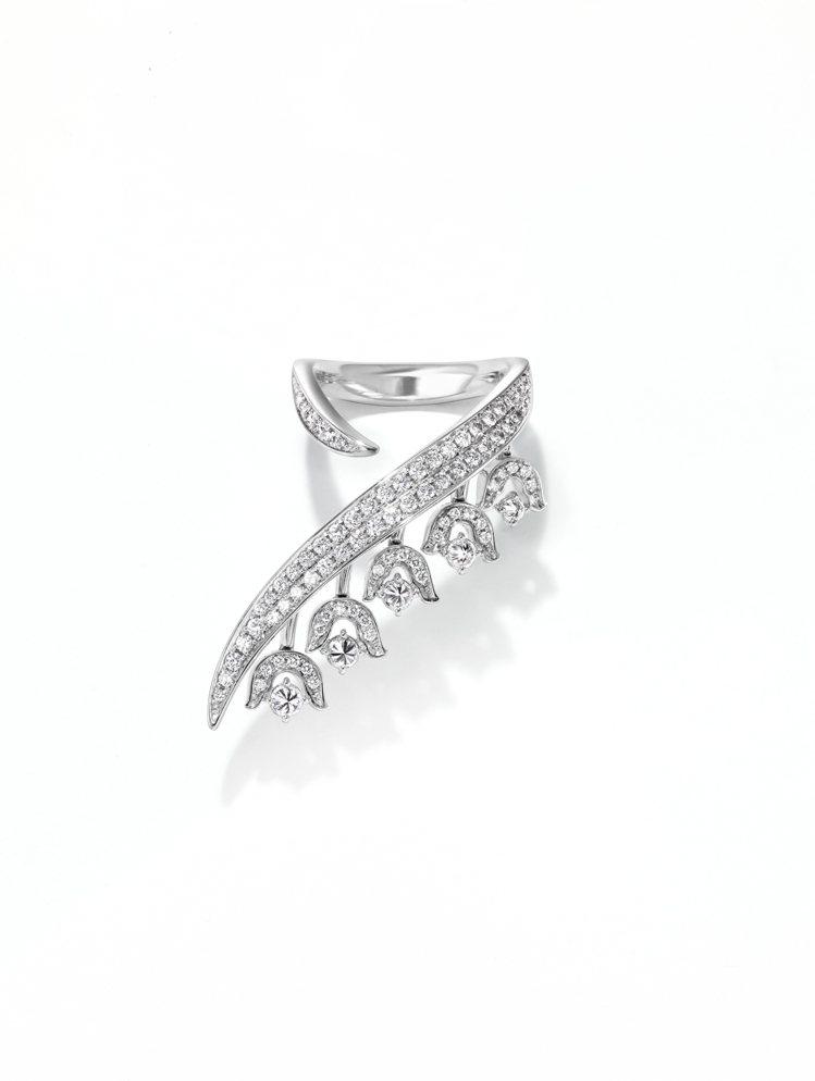 TASAKI chorus valley鑽石鉑金戒指,90萬7,000元。圖/T...