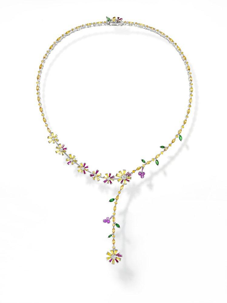 TASAKI opulence彩寶項鍊,369萬元。圖/TASAKI提供