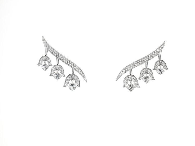 TASAKI chorus valley 鑽石鉑金耳環,107萬元。圖/TASA...
