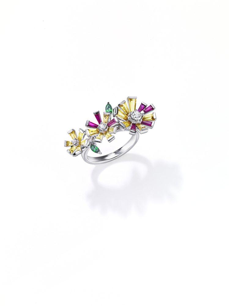 TASAKI opulence彩寶戒指,57萬1,000元。圖/TASAKI提供