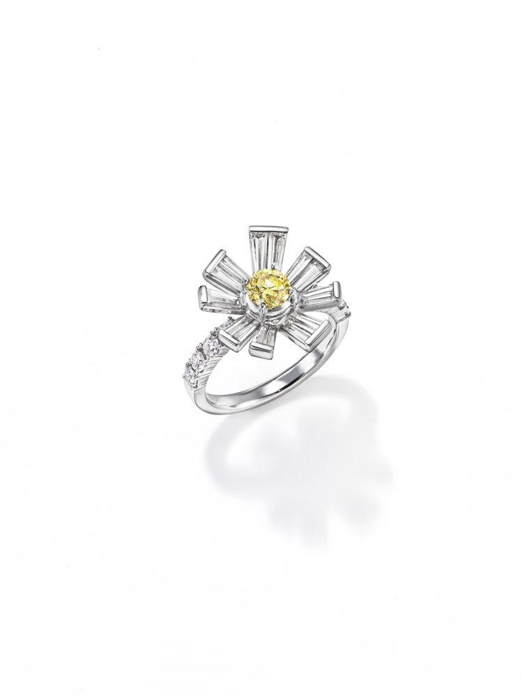 TASAKI opulence黃鑽鑽石戒指,154萬元。圖/TASAKI提供