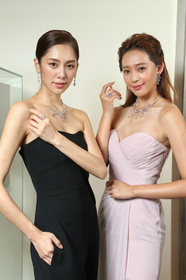 TASAKI全新flatland秋冬高級珠寶發表,名模王心恬(右)與廖奕琁(左)...